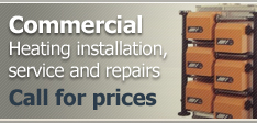 Commercial heating installation, service and repairs